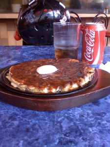 Okinomiyaki and a Coke
